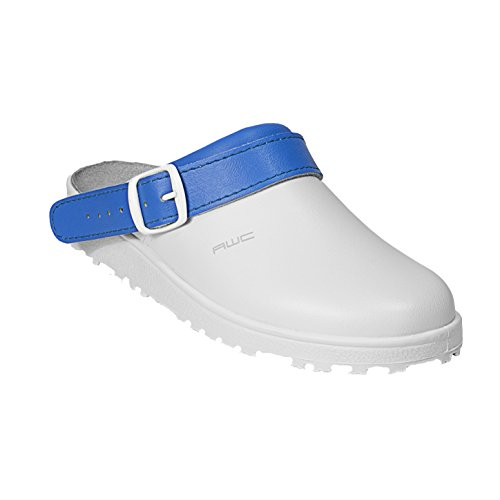 AWC-Footwear 17000-14-44-41 Classic color Arbeitsschuhe Blanc/Bleu Aqua, Taille 41