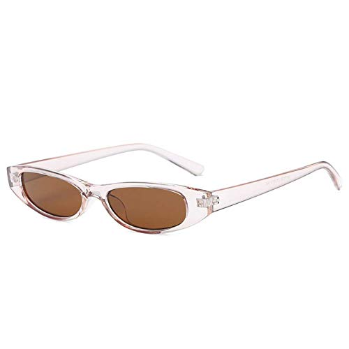 YHEGV Kleine Quadratische Sonnenbrille Frauen Vintage Rechteck Sonnenbrille Männer Schmale Unisex Rahmen Retro Marke Schwarz Günstige Brillen Brille Uv400