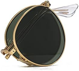 Ray-Ban Plegable Metal gafas de sol redondas en oro verde RB3532 001 50