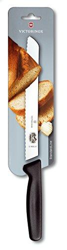 Victorinox Wavy Edge Bread Knife, 33.6cm, Black (5.1633.21.B)