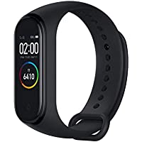 Xiaomi Band 4 - Smart watch e fitness tracker, con cardiofrequenzimetro, 135 mAh, schermo a colori, Bluetooth 5.0, 2019, nero