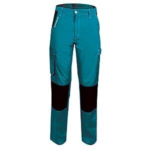 Fusión 660040 Pep 'S – Pantalón de trabajo talla XS color gris/limón