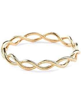 Pernille Corydon Damen-Ring Entangled vergoldet r-250