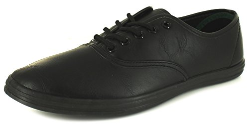 New Mens/Gents Black Lace Ups Fastening Fashion Pumps. - Black - UK SIZE 9