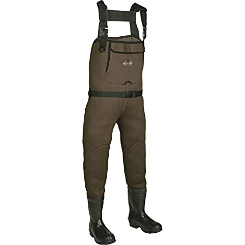 Allen Company Junior Waders Brown Chesapeake Neoprene Bootfoot Chest Wader, Mossy Oak, Size 4
