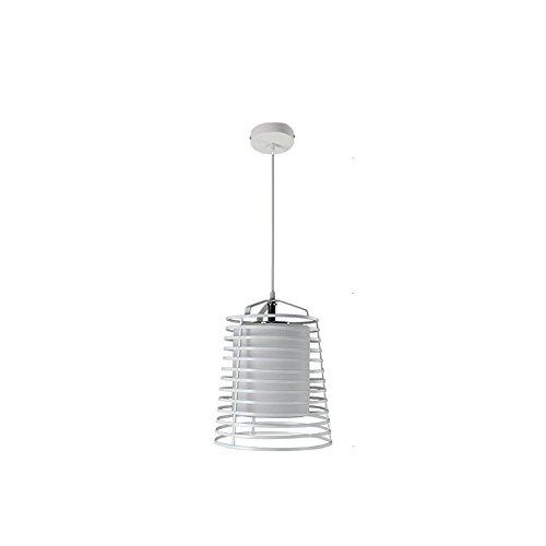 Moderne kreative schmiedeeisen schwarz/weiß led kronleuchter - schlafzimmer hotel cafe studie wohnzimmer esszimmer esstisch dekoration kronleuchter deckenleuchte (Color : White) -