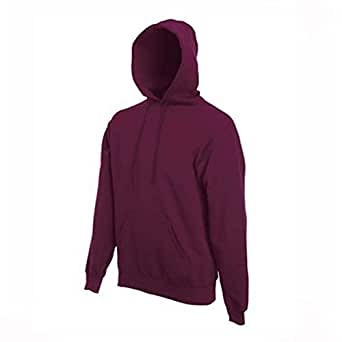 Mens Classic Hooded Hoodie Sweatshirts Sizes XS to 4XL (XS - EXTRA SMALL, MAROON)