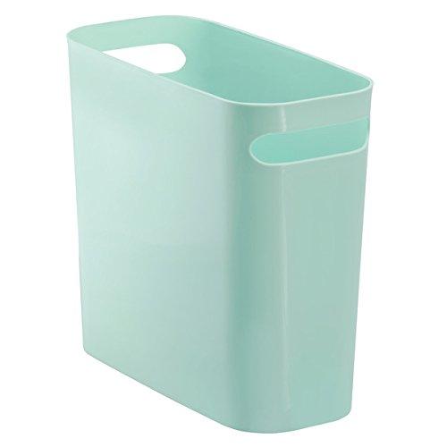 perfekt als M/ülleimer in der K/üche verspieltes Zick-Zack-Muster grau//gelb mDesign Abfallsammler aus hochwertigem Kunststoff Papierkorb im Kinderzimmer oder Abfalleimer im Bad