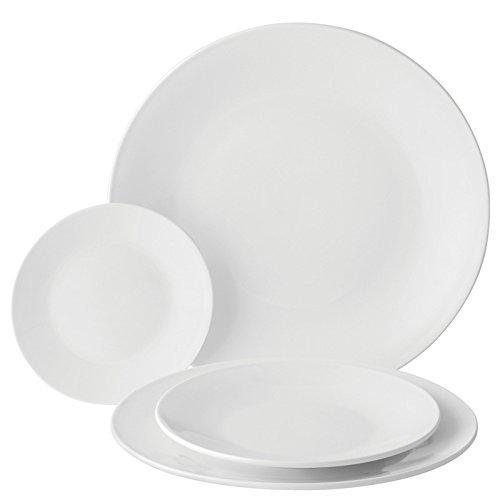 Utopia Anton Noir en porcelaine fine Z03169-000000-b01006 Assiette, 15,9 cm (lot de 6)