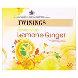4 Pack of Gluten Free Twinings Lemon & Ginger Tea 80 Bag