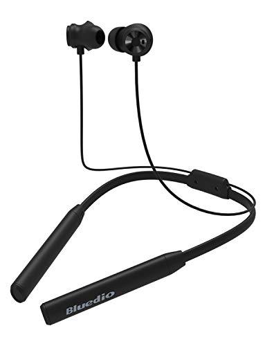 Bluedio TN2 Función Anti-Sudor Auriculares Bluetooth 4.2, con microfono, Cascos inálambrico Deportivos, Ruido de Cancelación, Estéreo, Utilizado por más de 12 Horas(Negro)