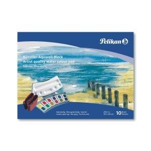 5 x Pelikan Aquarell-Malblock FR 4/10 24x34cm 250g/qm 10 Blatt feingrau
