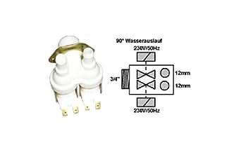 Electrovanne 2 Voies 90 D Référence : 482228120061 Pour Lave Vaisselle Philips