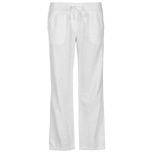 Full Circle Mujer Pantalones De Lino Blanco EU 44