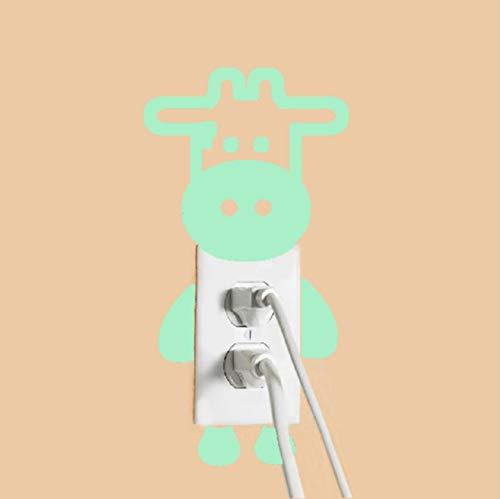 DAQIONG Kinder Wandaufkleber Leuchtende Lampe Geschnitzte Rinder Schalter Aufkleber Leuchtende Aufkleber Wohnzimmer Schlafzimmer Bad Schalter Aufkleber -