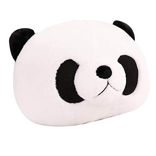 Almohada de peluche, diseño de oso panda de peluche, juguete para cumpleaños negro Negro