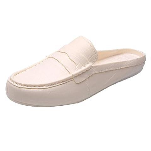 HCFKJ Sandales En Plastique Hommes Paresseux Sandales Demi Pantoufle Chaussures