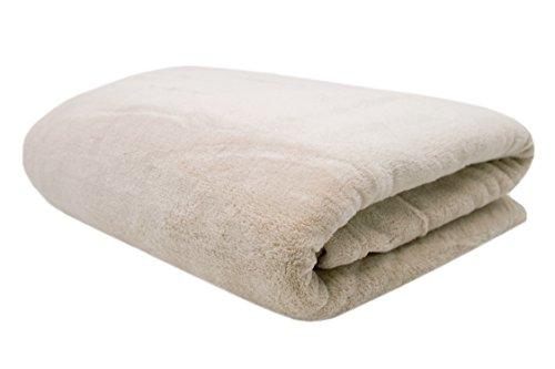 ZOLLNER® hochwertige Coral-Fleece-Decke / Kuscheldecke / Plaid / Wohndecke / Wolldecke 150x200 cm beige, in weiteren Farben und Größen erhältlich, direkt vom Hotelwäschespezialisten, Serie