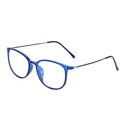 Retro Brille ohne stärke Student Slim-Brille Damen Herren Nerdbrille Linsen Brillenfassung clear...