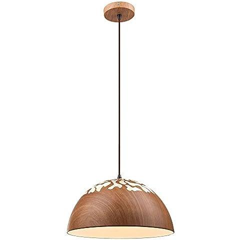 Coprire la lampada legno rotondo da pranzo camera illuminazione Globo (Lampade Inoltre Legno Lampada Da Tavolo)