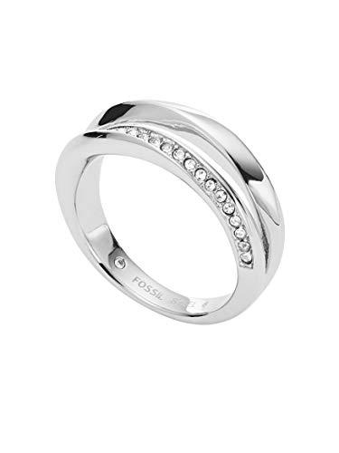 Fossil Damen-Ringe Edelstahl zirkonia \'- Ringgröße 56 JF03019040-8