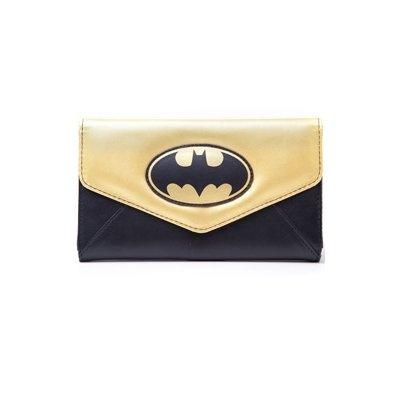 Batman-Geldbrse-schwarz-Gold