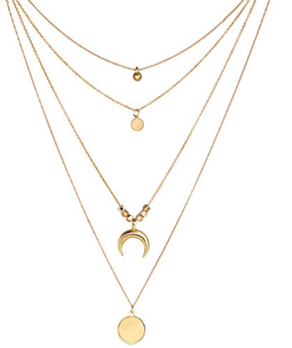 KLKL Vintage Gold Farbe Shell Geschichteten anhänger halsketten für Frauen Charme Kette Perle Choker Halskette schmuck