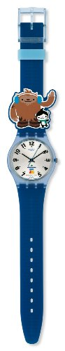 Swatch Unisex-Armbanduhr Analog Silikon Sporty Friends GZ211 - 3