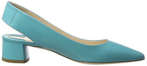 DEI MILLE Peggy, Sandales Bout Fermé Femme Turquoise (Aqua Nappa)