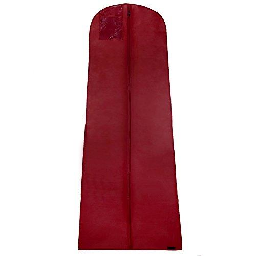 Hangerworld - 3 breite atmungsaktive Kleidersäcke für Hochzeitskleider 183cm Kleiderhülle Weinrot