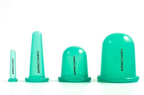 Massage ventouse en Silicone médical, Cupping forme 4PCS Body Cups et lift visage Cupping Beauty Anti Cellulite Minceur anti rides anti age
