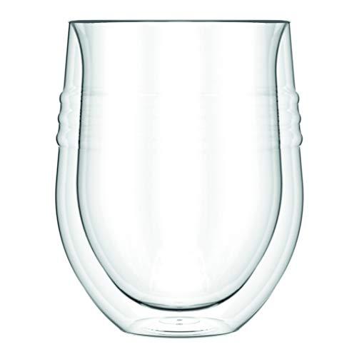 Bodum 11577–10Skål 2Pezzi da Vino Rosso, a Doppia Parete, 0,32l, Trasparente, 0,32 L