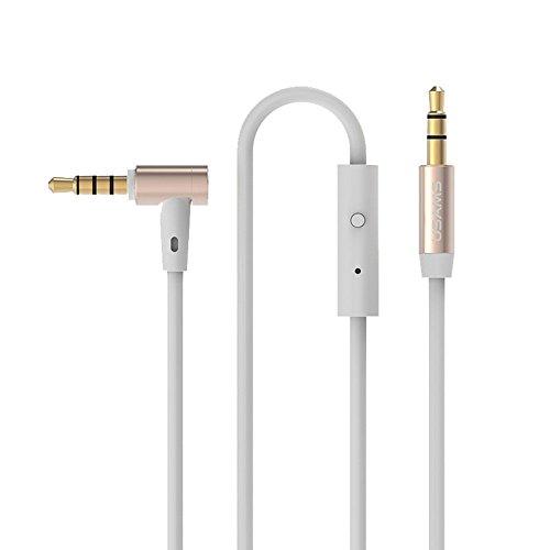 Cavo AUX 3.5mm a 3.5mm 1 Maschio a Maschio Estensione Cavo Audio con il Mic per iPhone Samsung Cuffie MP4 MP3