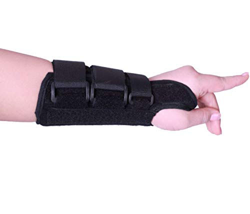 Hand Gurt Fixierung, Handgelenks Fraktur-Rehabilitation, Handgelenk-Stützschiene, Atmungsaktive Leichtbau Stütze-Gelenkschmerzen Lindern (Schwarz),Blackrighthand,L