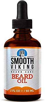 Beard Oil - 100% Natural - Soften Your Beard and Stop Itching - Contains Premium Blend of Nourishing Ingredients - With Avocado Oil, Sweet Almond Oil, Moroccan Argan Oil, Olive Oil, Pumpkin Seed Oil, Castor Oil, Jojoba Oil, & Vitamin E - Vegan Friendly by Smooth Viking by Smooth Viking