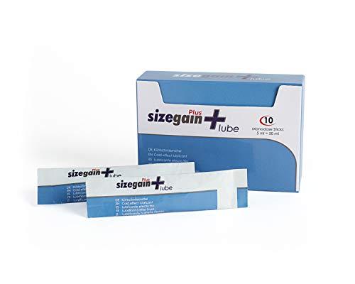 Sizegain Plus Lube 10x 5ml Sachets wasserbasiertes Gleitgel mit Cooling-Effekt Gleitmittel kühlend-es Lubricant