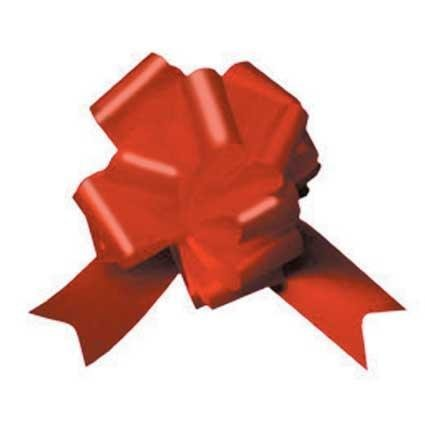 WHOLESALE Large 50mm Pull Bows Ribbon (Pack of 20) Christmas Weddings Gift Wrap (Red)