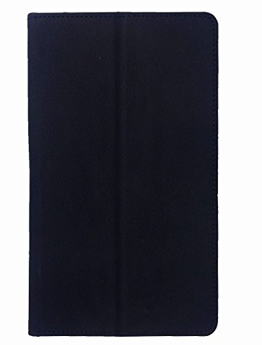 "KANICT 7"" inch Tablet Leather Front & Back Flip Flap Case Cover for Lenovo PHAB PB1-750M -Black"
