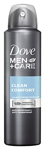 Dove Men+Care Deospray Clean Comfort Anti-Transpirant für Männer, 3er Pack (3 x 150 ml)