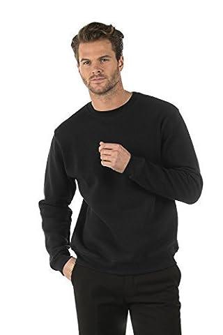Bruntwood Classic Crew Neck Sweatshirt - Mens & Ladies - 280GSM - Cotton/Polyester (Black, XXXL)