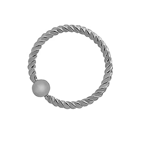 tumundo 1 ou set 5 Pièces Piercing Twist Spirale Tordues Tragus Septum Lips Boucle d'oreille Acier Nez Universel Balle, Farbe2:silbern - 1.2 x 11 mm / silver