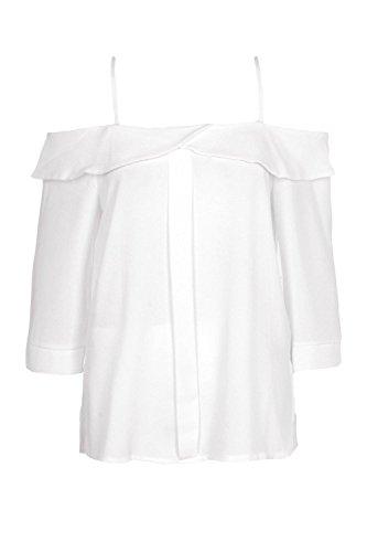 blanc Femmes Ava Top Tissé À Épaules Dénudées Blanc