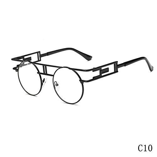 WZYMNTYJ Neue Heiße Große Metallrahmen Frauen Sonnenbrille Steampunk Sonnenbrille für Männer UV400