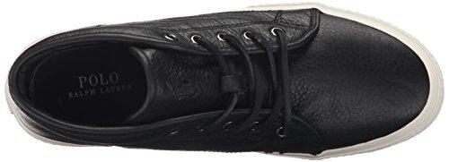 Ralph Lauren Mens Thurlos Leather Boots Schwarz