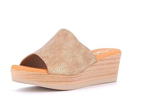 OH! MY SANDALS Zapatos de Mujer Sandalias 4237 Beige Talla 37 Beige