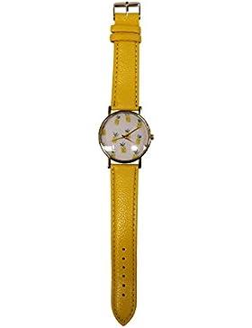 sommerliche Armbanduhr mit witzigem Ananasmotiv