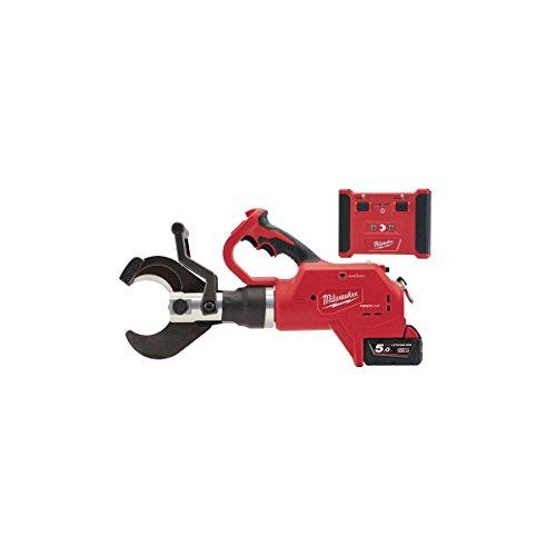 Milwaukee Cortador de Cables Hidráulico FORCELOGIC ONE Key M18 HCC75R-502C - 2 Baterías 18V 5.0Ah - 1 Cargador M12-18FC 4933459271, Rojo