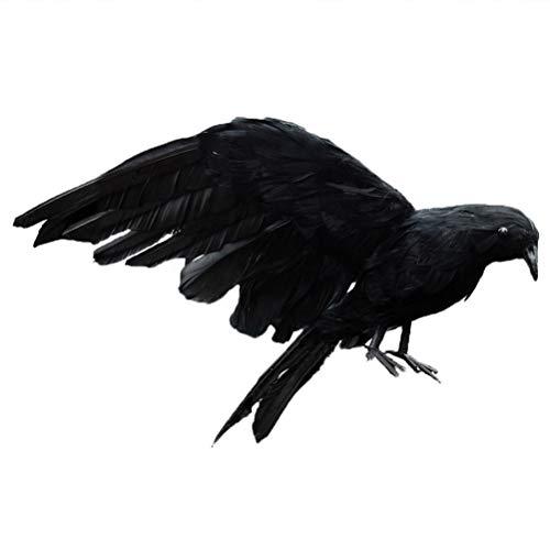 3Ciker Halloween realistische handgemachte Krähe Künstliche Vögel Fake Ravens Imitation Crows - Einfach Crow Kostüm
