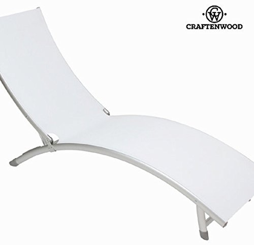 Chaise Longue en Aluminium Blanc par Craftenwood