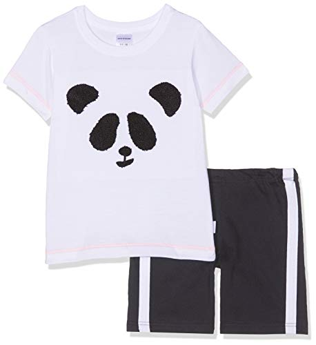 Schiesser Jungen Relax Anzug kurz Zweiteiliger Schlafanzug, Weiß (Weiß 100), (Herstellergröße: 140)